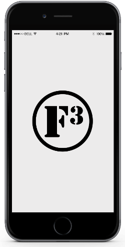 The official F3 App works on both iPhone and Android devices!